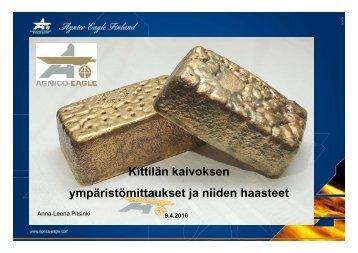 Ympäristömittaukset ja tulevaisuuden haasteet - Green Net Finland ry