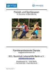 Freizeit-Sport-Programm November 2011 - Lebenshilfe Berlin