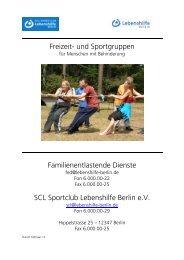 freizeitprogramm disco - Lebenshilfe Berlin
