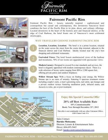 Fairmont Pacific Rim Offer