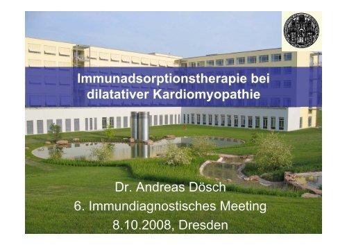 Immunadsorptionstherapie bei dilatativer Kardiomyopathie - (GFID) eV