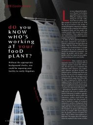 Do You Know Who's Working at Your Food Plant?