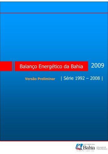 Balanço Energético da Bahia - Fórum Nacional de Energia