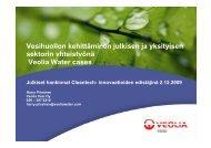 Vesihuollon kehittäminen julkisen ja yksityisen sektorin yhteistyönä ...