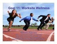 Goal 11: Worksite Wellness - Consortium for a Healthier Miami-Dade