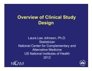 Overview of Clinical Study Design