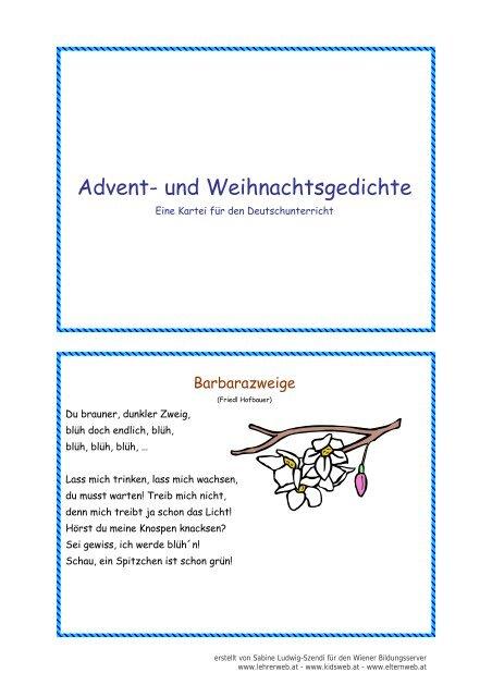Kidsweb Weihnachtsgedichte.Nikolaus Lehrerweb
