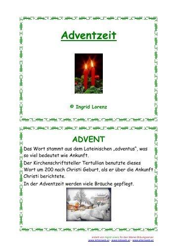 Adventzeit - Lehrerweb
