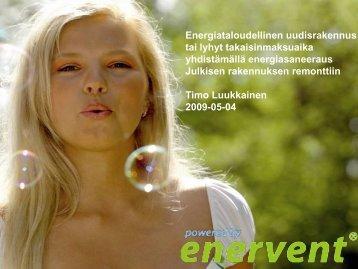 Enervent, Timo Luukkainen: Lämmitys - Green Net Finland