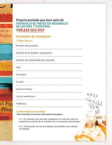 Formulario de inscripción - Cerlalc