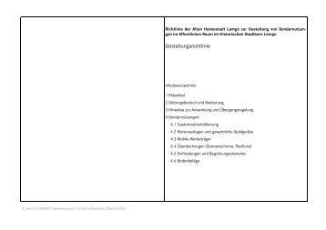 Gestaltungsrichtlinie - Lemgo