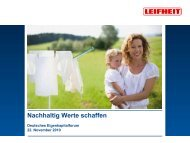 Deutsches Eigenkapitalforum - Leifheit