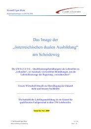 """Das Image der """"österreichischen dualen Ausbildung ... - Egon Blum"""