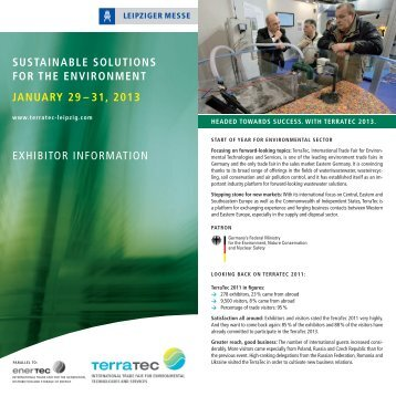 sustainable solutions for the environment january ... - Leipziger Messe