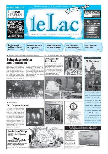 Schweizermeister aus Courlevon - Zeitung Le Lac, Murten