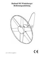 Rutland 503 Windcharger Bedienungsanleitung