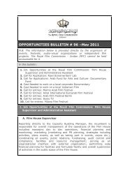 OPPORTUNITIES BULLETIN # 96 –May 2011 - The Royal Film ...