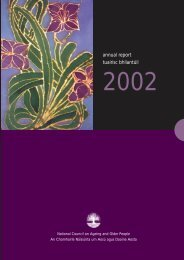 Annual Report 2002 - National Council on Ageing and Older People