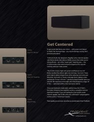 Center Channel - Proficient Audio Systems