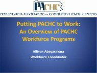 Recruitment - Pennsylvania Association of Community Health Centers