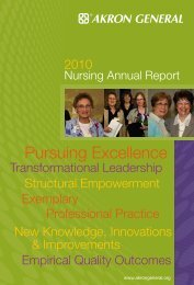 Nursing Annual Report - Akron General Medical Center