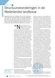 Structuurveranderingen in de Nederlandse landbouw - Frisse Blik