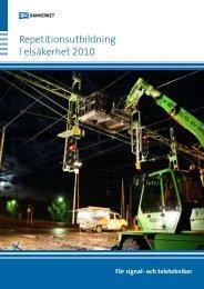 Repetitionsutbildning i elsäkerhet 2010 - Trafikverket
