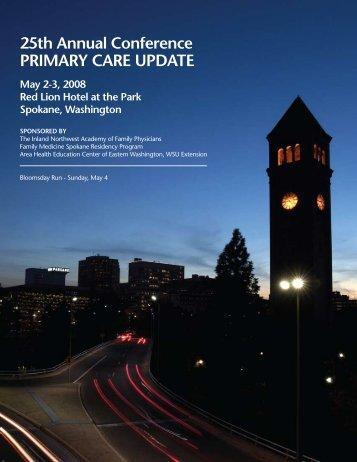 PRIMARY CARE UPDATE - Washington State University at Spokane