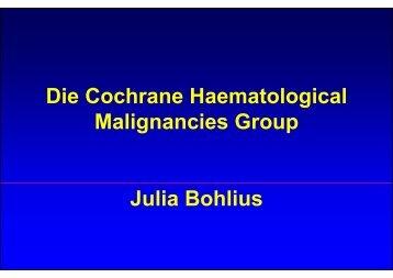 Vortrag Bohlius - Kompetenznetz Maligne Lymphome
