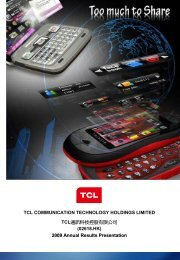 2009 Annual Results Presentation - TCL Communication ...