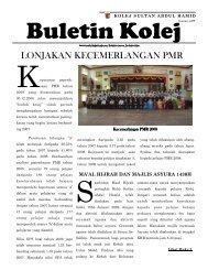 Buletin Kolej Edisi Januari 2009 - Jabatan Pelajaran Negeri Kedah