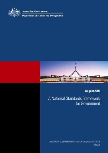 A National Standards Framework for Government - Australian ...