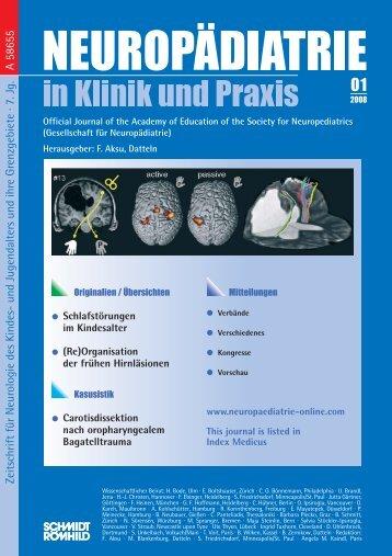 Zeitschrift für Neurologie des Kindes- und Jugendalters und ihre ...