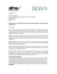AFME/ISDA response to the IOSCO Consultation on Regulatory ...