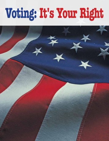 Voting: It's Your Right - Disability Rights New Jersey