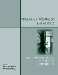 Performance-Based Dismissals - Center on Innovation and ...