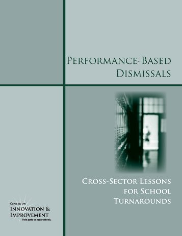 Performance-Based Dismissals - Center on Innovation and ...