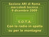 Presentazione SOTA - ARI Roma