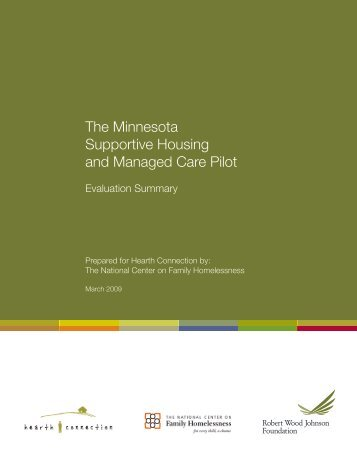 The Minnesota Supportive Housing and Managed Care Pilot ...