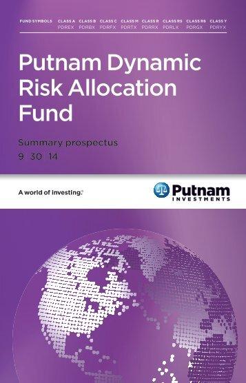 Putnam Dynamic Risk Allocation Fund - Putnam Investments