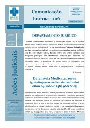 A ções Judiciais - Sindicato dos Médicos do Estado de Santa Catarina
