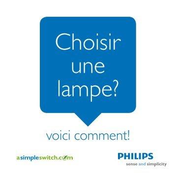 Choisir une lampe?