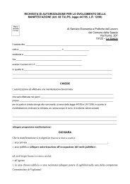 Modulo richiesta di autorizzazione svolgimento di feste e