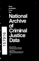 Data Available from the National Archive of Criminal Justice Data