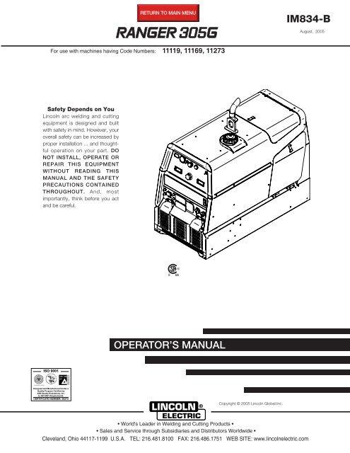 lincoln 305g wiring diagram ranger 305g lincoln electric  ranger 305g lincoln electric