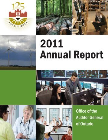 2011 Annual Report of the Office of the Auditor General of Ontario