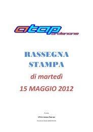RASSEGNA STAMPA di martedì 15 MAGGIO 2012 - Atap