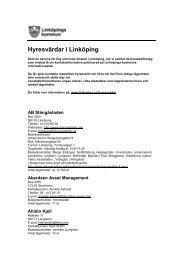 Hyresvärdar i Linköping - Linköpings kommun