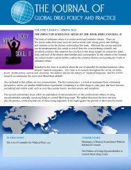 VOLUME 7, ISSUE 1 - The Institute on Global Drug Policy