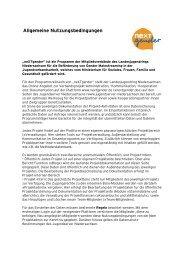 Allgemeine Nutzungsbedingungen - Jugendserver Niedersachsen